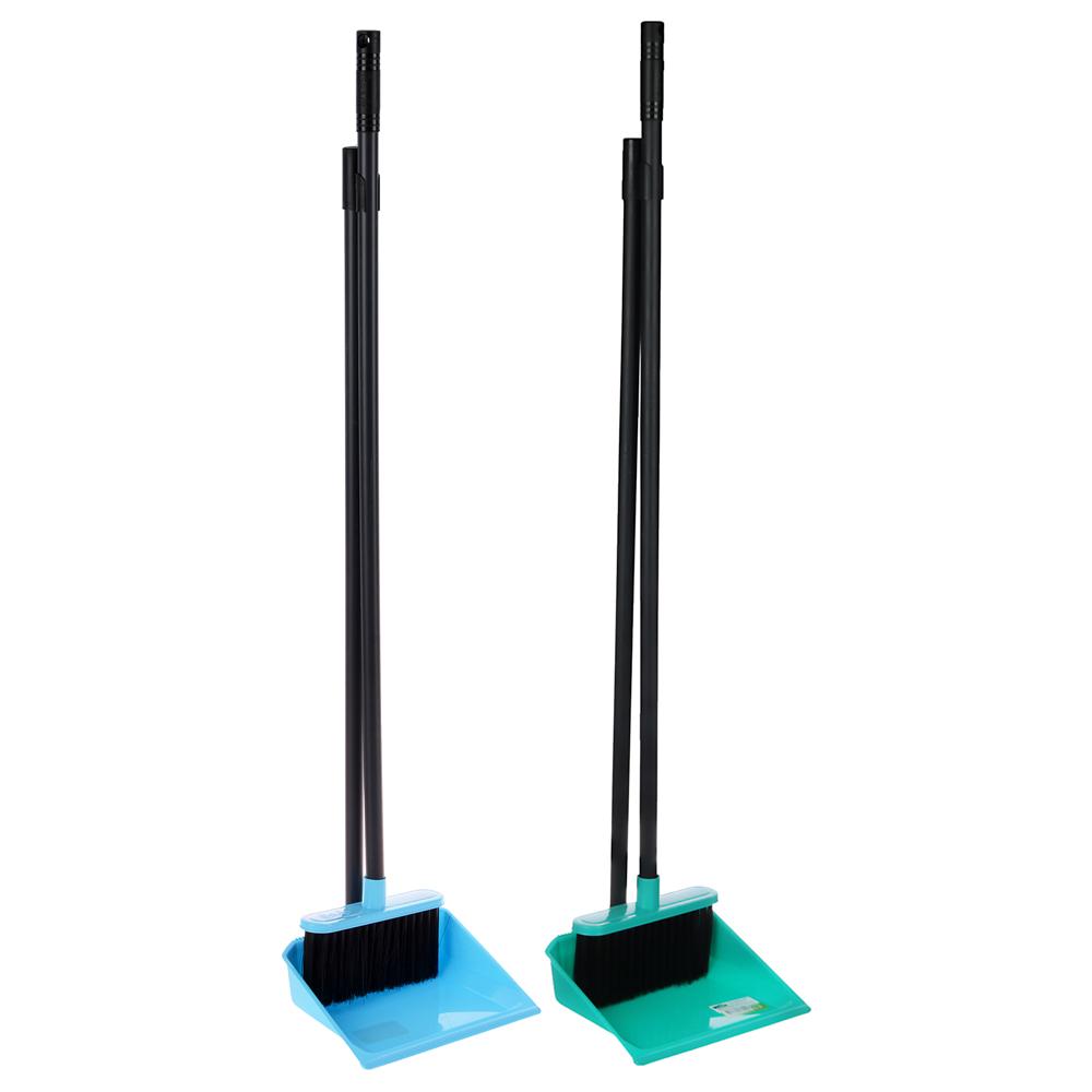 "Набор для уборки: щётка с ручкой, совок, пластик, 79х19х17 см, 2 цвета, VETTA ""Практик"""