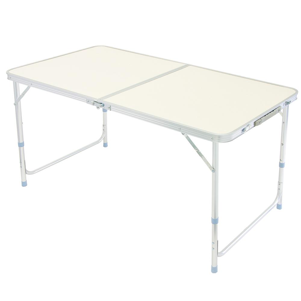 ЕРМАК Стол для кемпинга складной, 120x60см, алюминий + фиберглас, трубки d25мм, толщина настила 2,7м