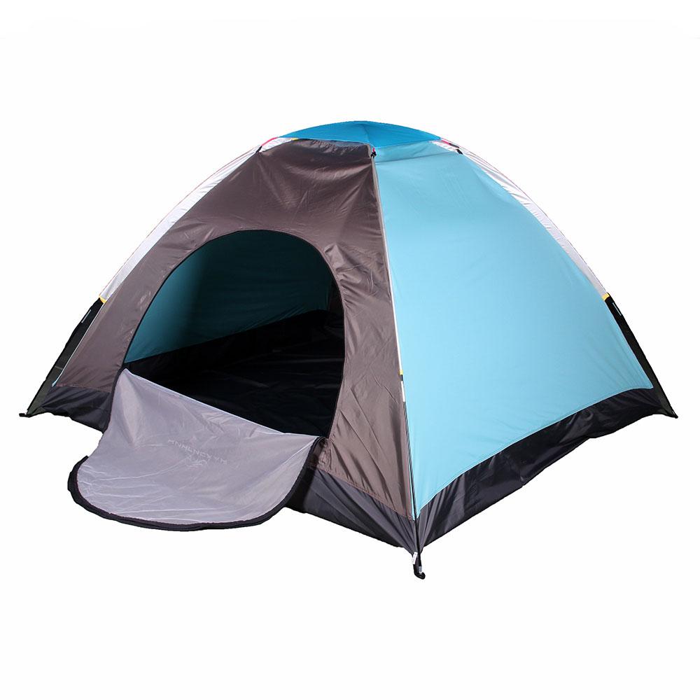 ЧИНГИСХАН Палатка 3-х местная, однослойная, 2х2х1,35м, полиэстер 170Т, дно PE водонепроницаемое
