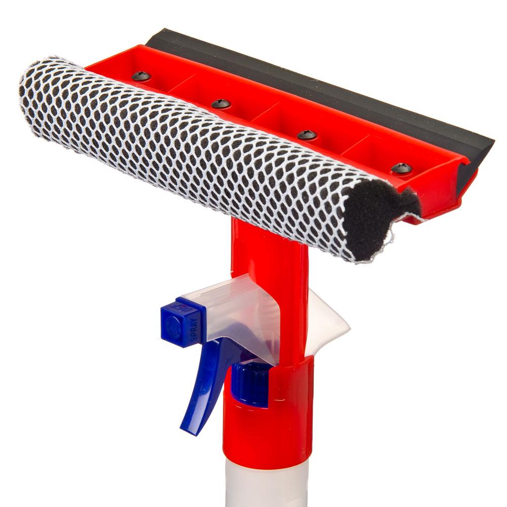 NEW GALAXY Щетка с губкой, с водосгоном и спреем (пульверизатором 300мл), 20x34см