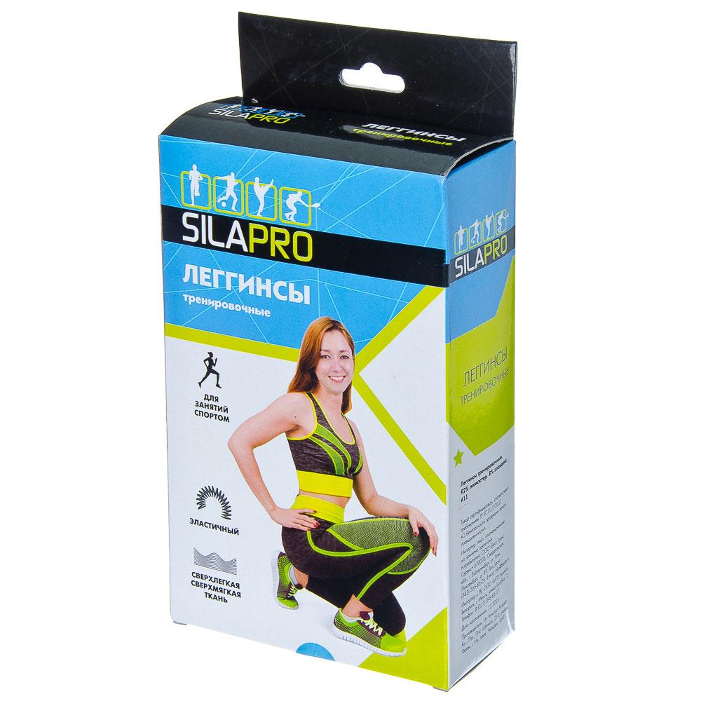SILAPRO Леггинсы тренировочные, 92% полиэстер, 8% спандекс, S, M размер, #11