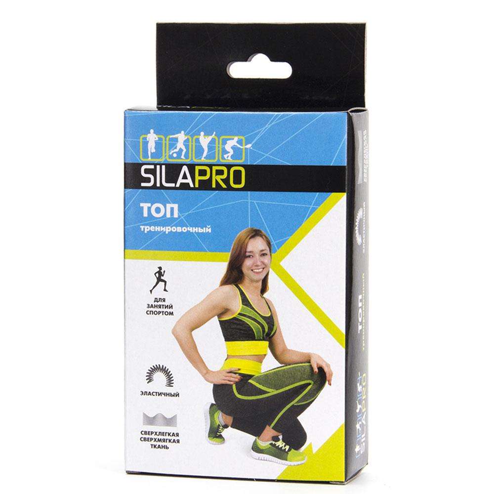 SILAPRO Топ тренировочный, 92% полиэстер, 8% спандекс, 6 цветов, S, M размер, #13