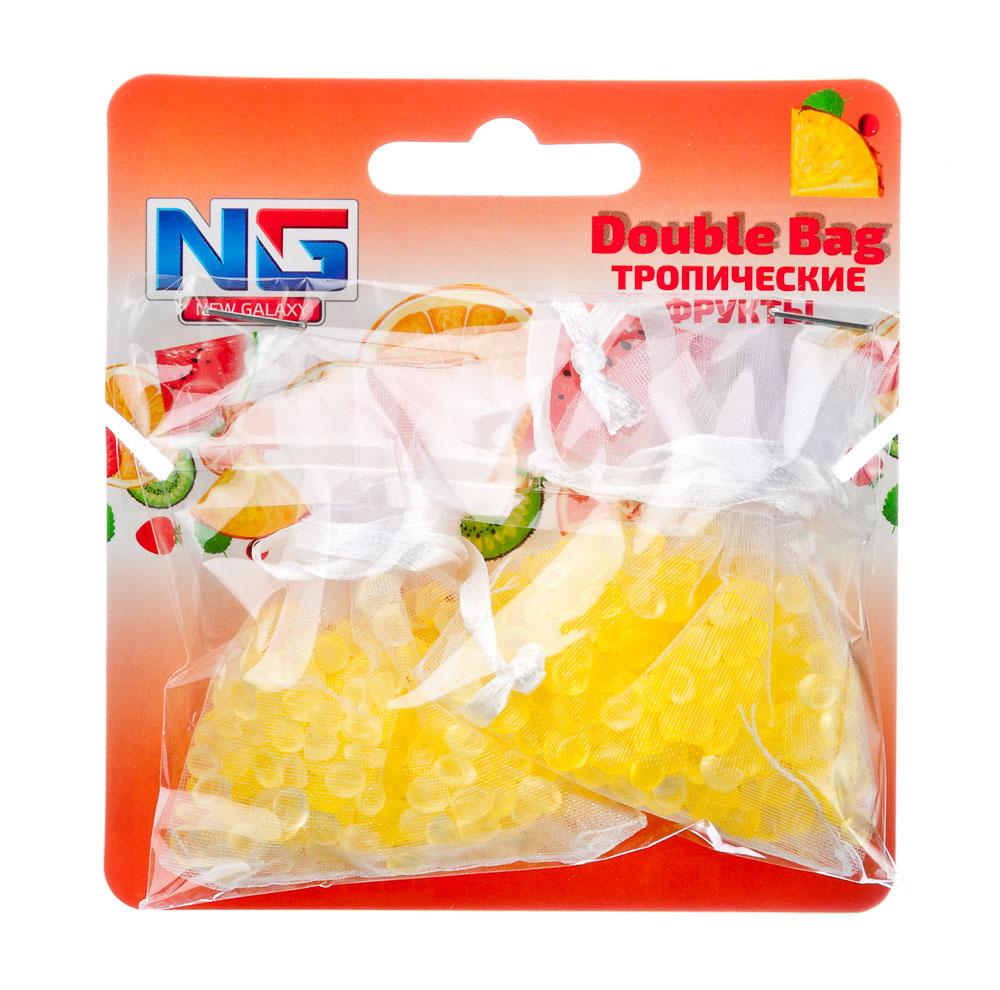 """Ароматизатор в машину пакетики, аромат тропические фрукты, """"Double Bag"""" NEW GALAXY"""