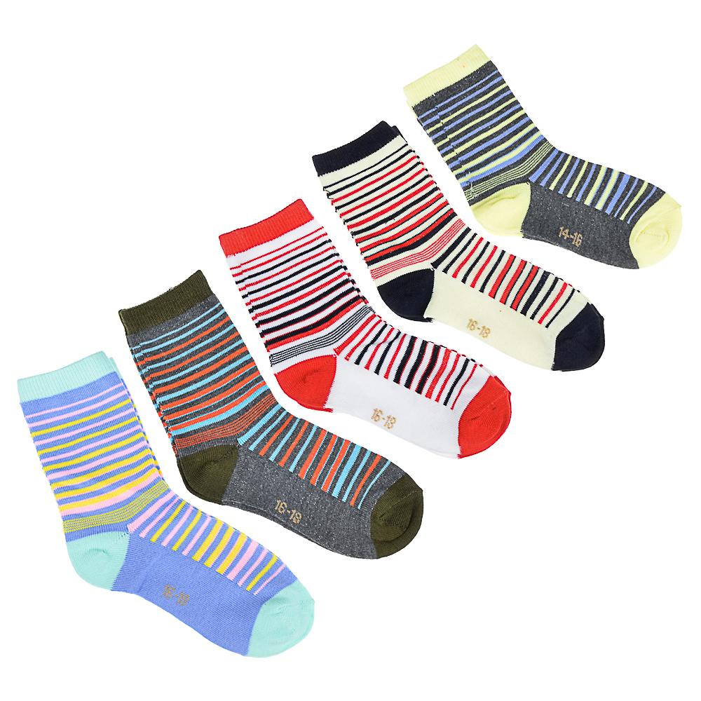Носки детские, 70% хлопок, 30% полиамид, р-ры 14-16/16-18/18-20, 5 цветов, XMQ-15-01