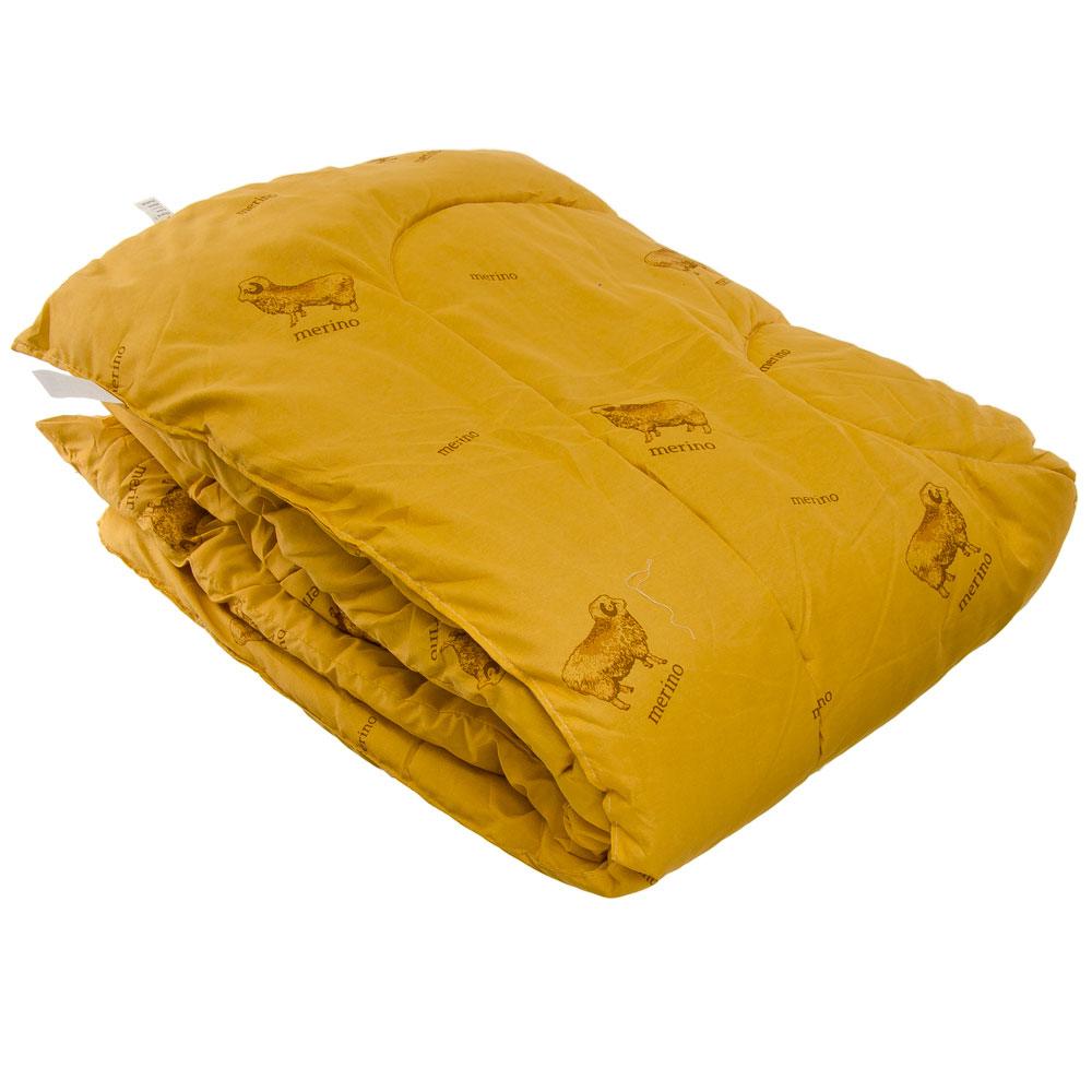 """Одеяло утепленное, стеганое, 140х205см, """"Овечья шерсть"""""""