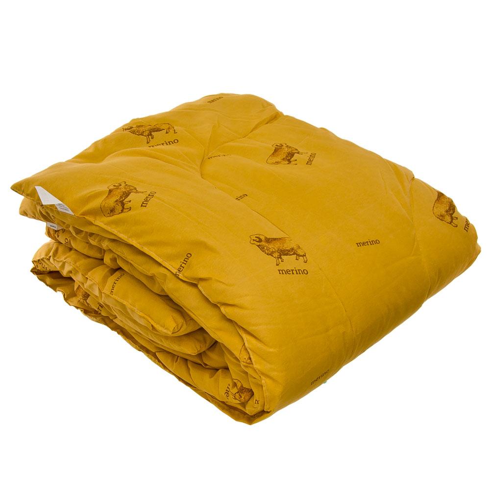 Одеяло Овечья шерсть, стеганое, утепленное, полиэстер, 172х205см