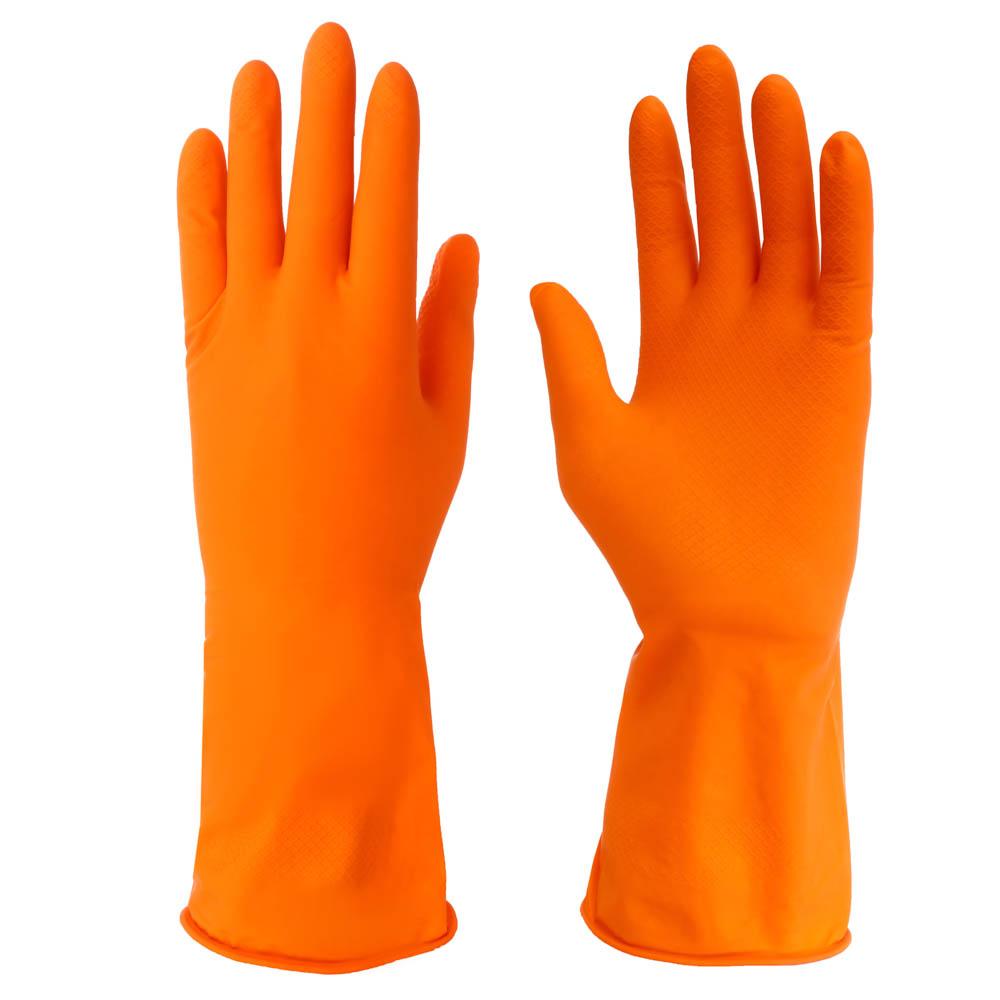 Перчатки резиновые для уборки оранжевые, XL, VETTA