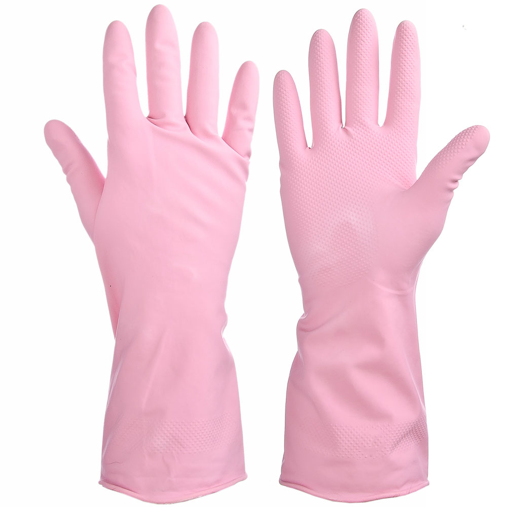 Перчатки резиновые, прочные, с запахом лаванды, L, VETTA