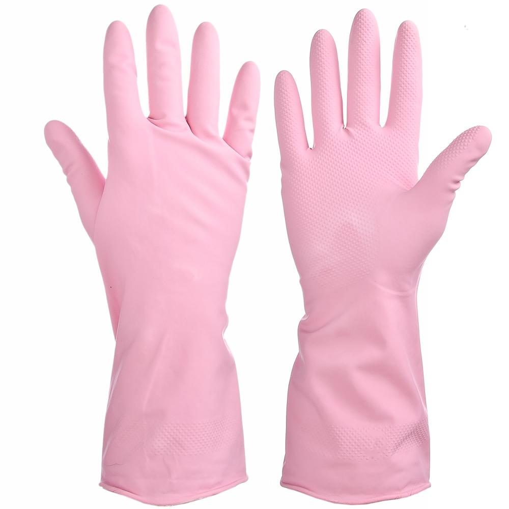 Перчатки резиновые, прочные, с запахом розы, L, VETTA