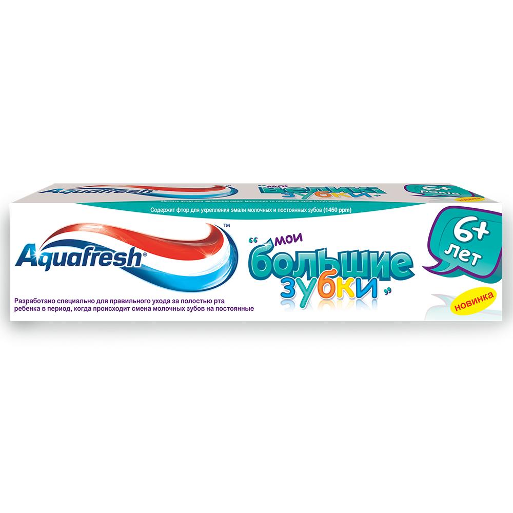 Зубная паста Аквафреш детская Мои большие зубки 6+ лет 50мл