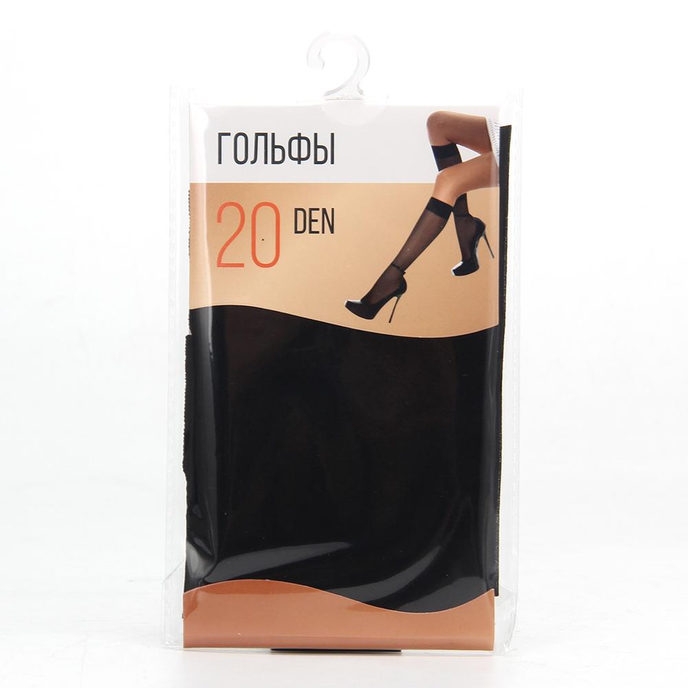 Гольфы капроновые 20ДЕН, размер свободный, черный