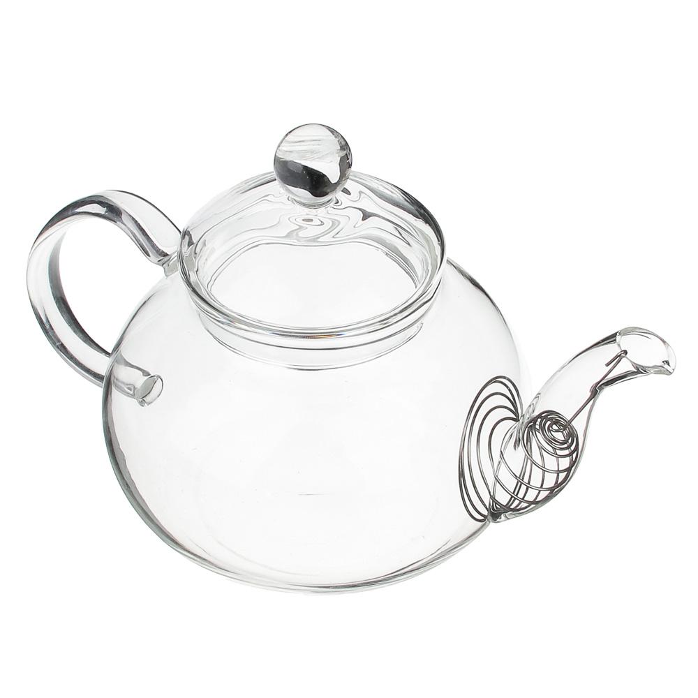Чайник заварочный 600 мл VETTA, с металлическим фильтром, стекло
