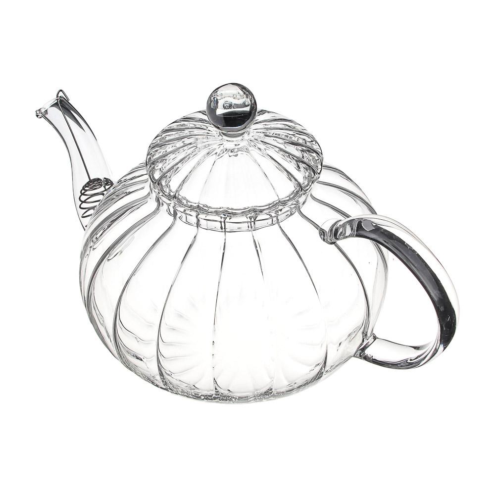 Чайник заварочный 800 мл VETTA, с металлическим фильтром, стекло