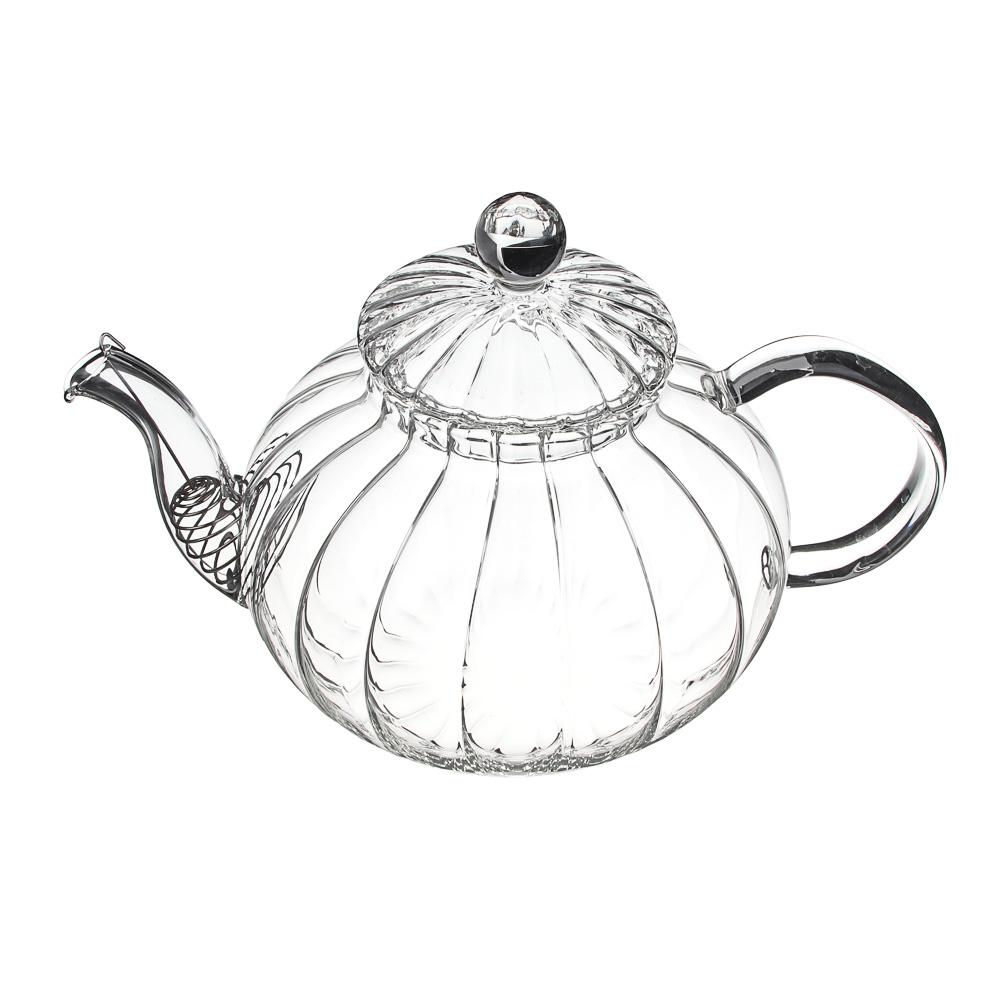 VETTA Чайник заварочный 800мл, с металлическим фильтром, стекло