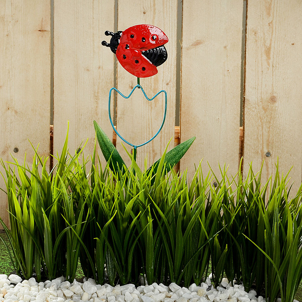 "INBLOOM Декор для сада, металл, 12,3х41см, ""Тюльпан"", 6 дизайнов"