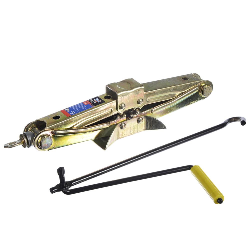 NEW GALAXY Домкрат механический ромбический 1,5т, высота подъема 85-335мм, желтый цинк
