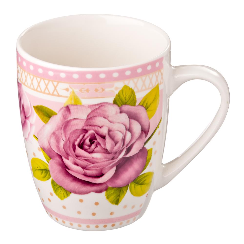 Кружка 350мл, фрф, Розовый сад, 4 дизайна