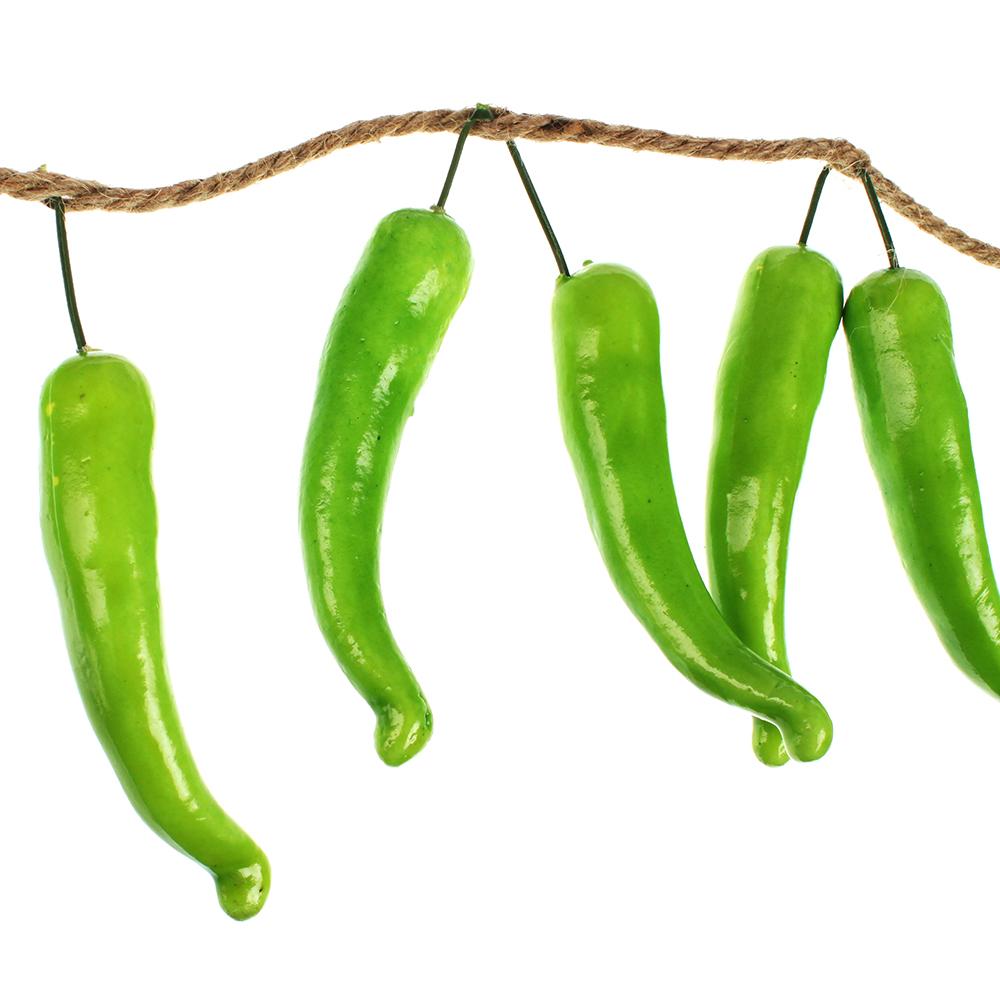 Овощи искусственные в виде перца, 10 шт, пластик, 2 цвета