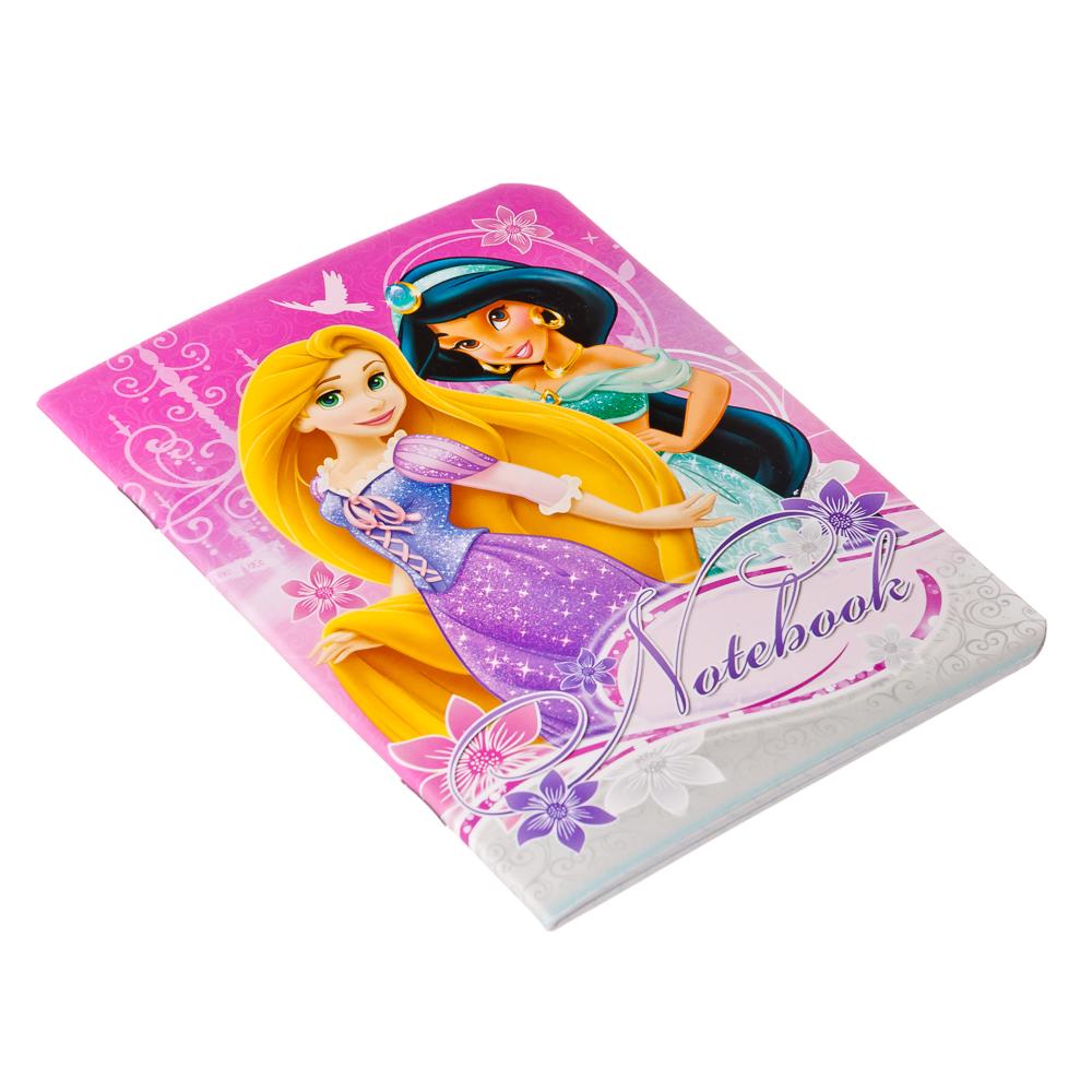 """Записная книжка А6 24л в клетку, офсет, обл. мел. картон, выб. УФ лак, скрепка, """"Princess"""", D3166(67"""