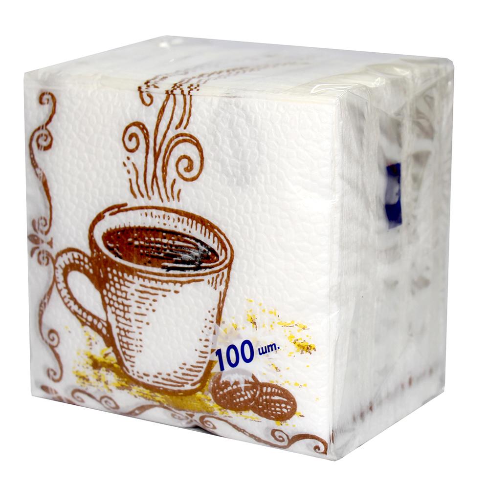 Салфетки бумажные Лилия с рисунком 1сл 100л