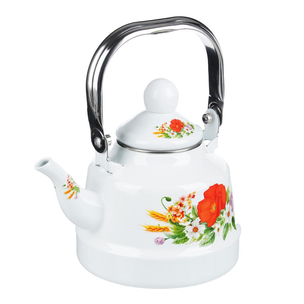 Чайник эмалированный 1,1 л Полянка