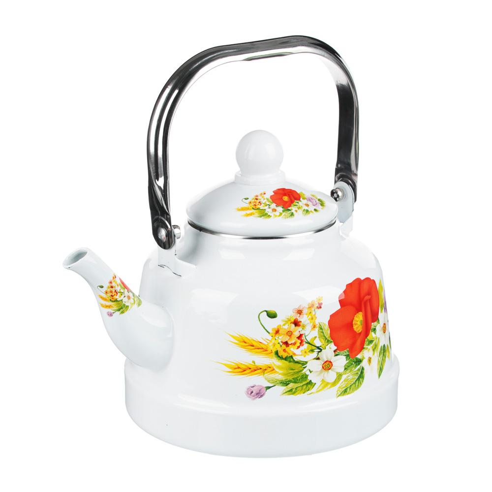 Чайник эмалированный 2,5 л Полянка