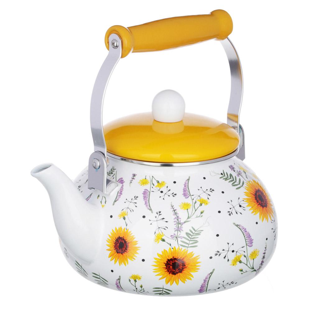Чайник 2,5 л VETTA, эмалированный, 3 дизайна, индукция