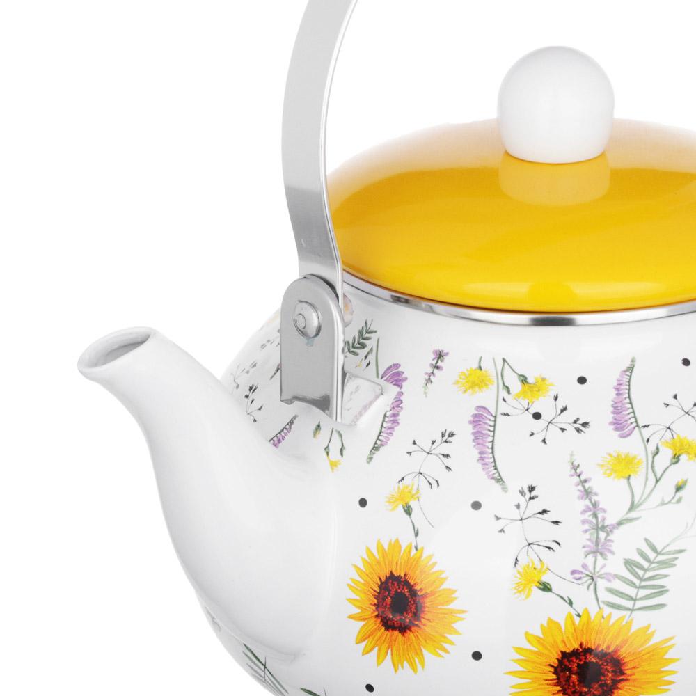 VETTA Чайник эмалированный 2,5л, 3 дизайна