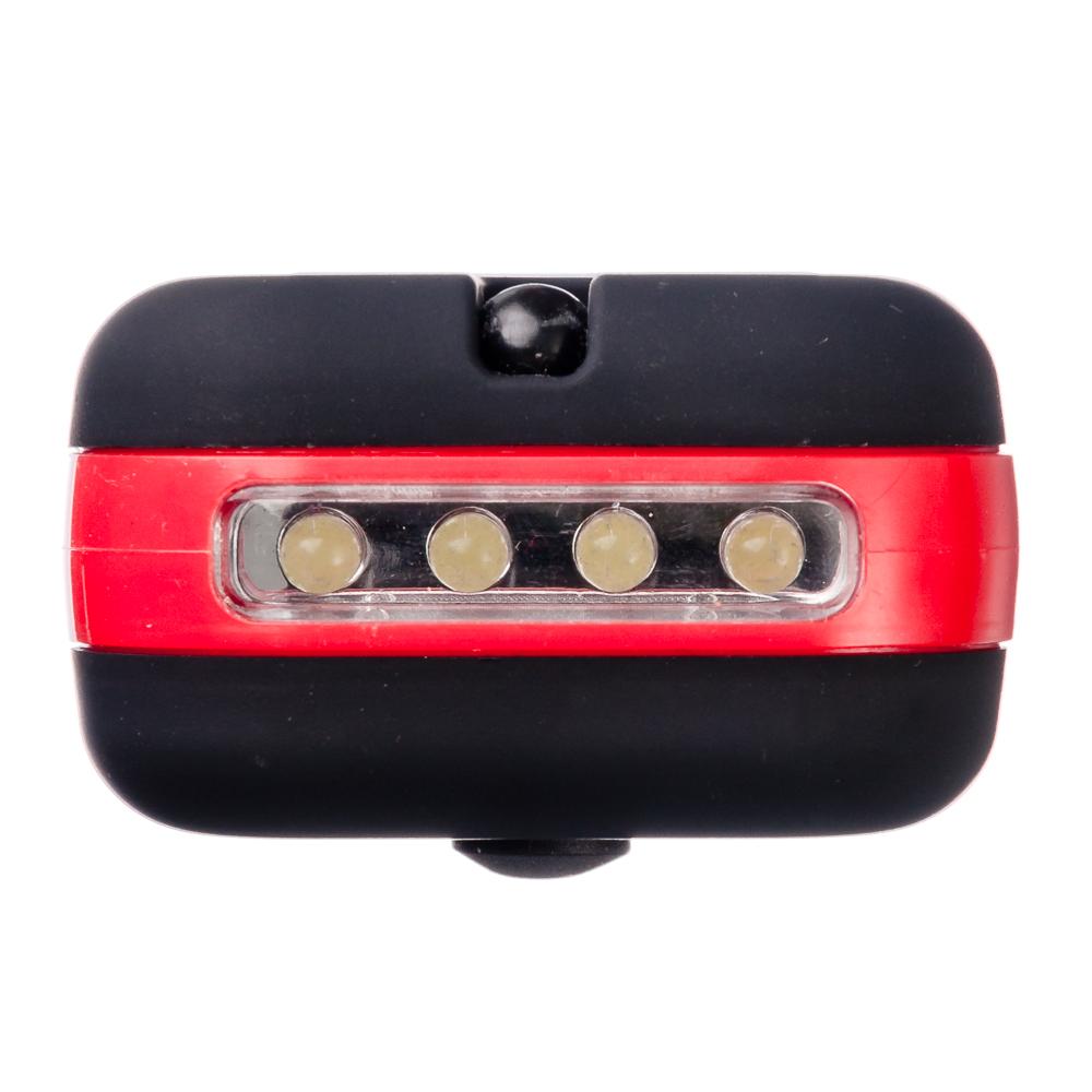 ЧИНГИСХАН Фонарь подвесной 24+4 LED, 3хААА, пластик, 9,6х6 см