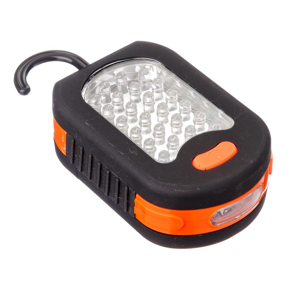 ЧИНГИСХАН Фонарь подвесной 24+3 LED, 3хААА, пластик, 9,3х6 см