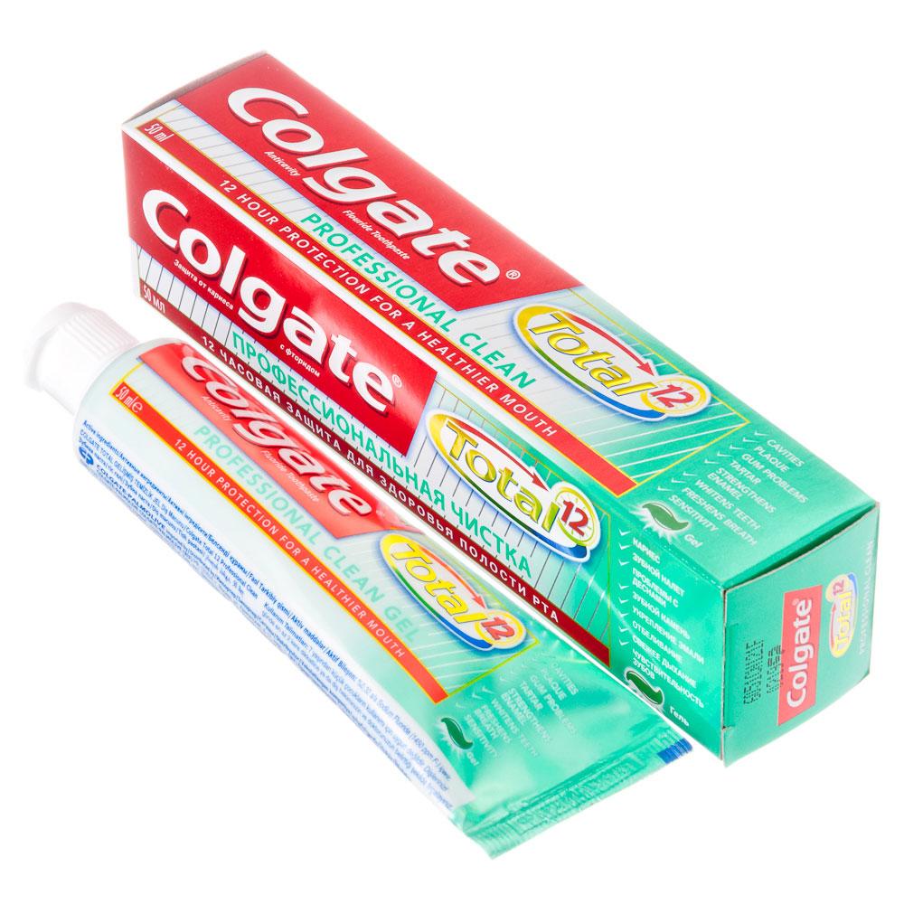 Зубная паста COLGATE Total 12 Профессиональная чистка, 50мл, 188189253