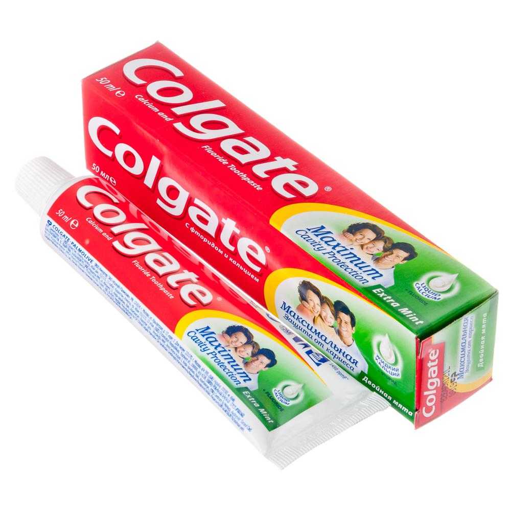 Зубная паста COLGATE Максимальная защита от кариеса Двойная Мята, 50 мл, 188189273