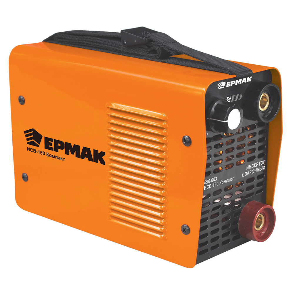 ЕРМАК Инвертор сварочный ИСВ-160 Компакт, 220В, 3,1 кВА, 20-160А, электроды 1,6-4 мм, раб цикл 60%