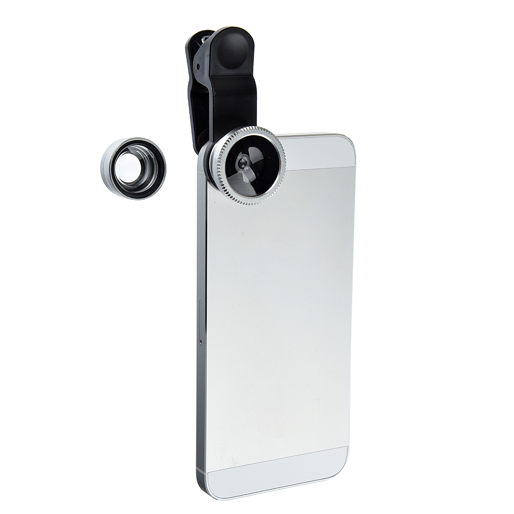 Набор объективов для телефона FORZA 3 в 1 на прищепке
