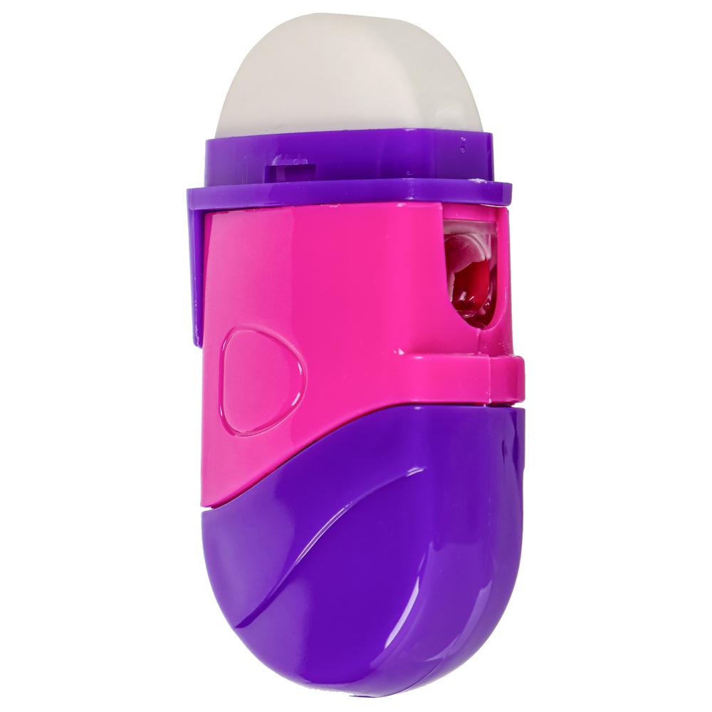 Точилка для карандашей с контейнером и ластиком 6,5x3см, 2 цвета