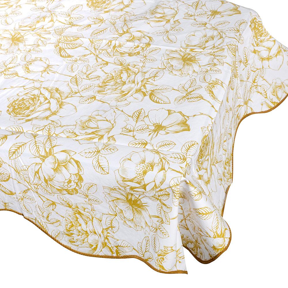 Скатерть на стол виниловая, клеенка с каймой, 152x228см, VETTA