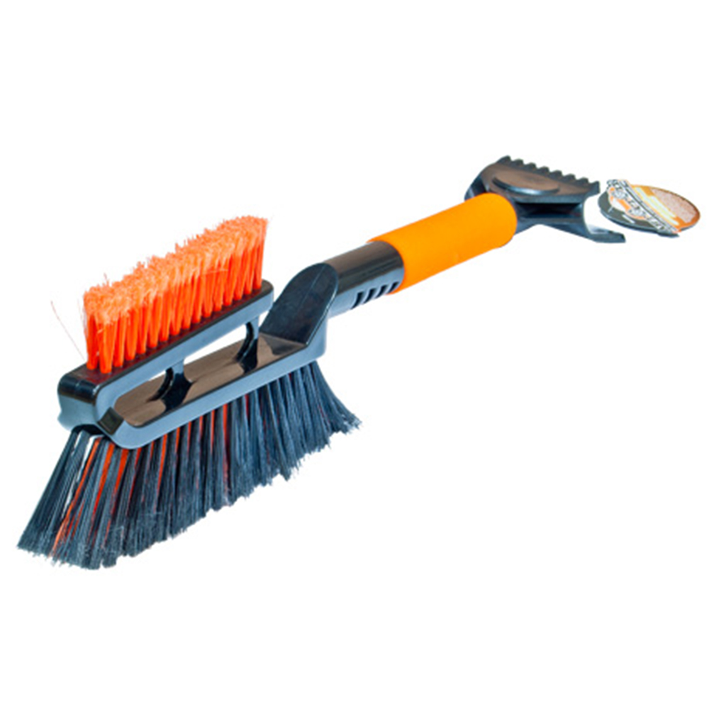 Щетка для уборки снега с двойным скребком и мягкой ручкой 52см, Автостоп, AB-2286