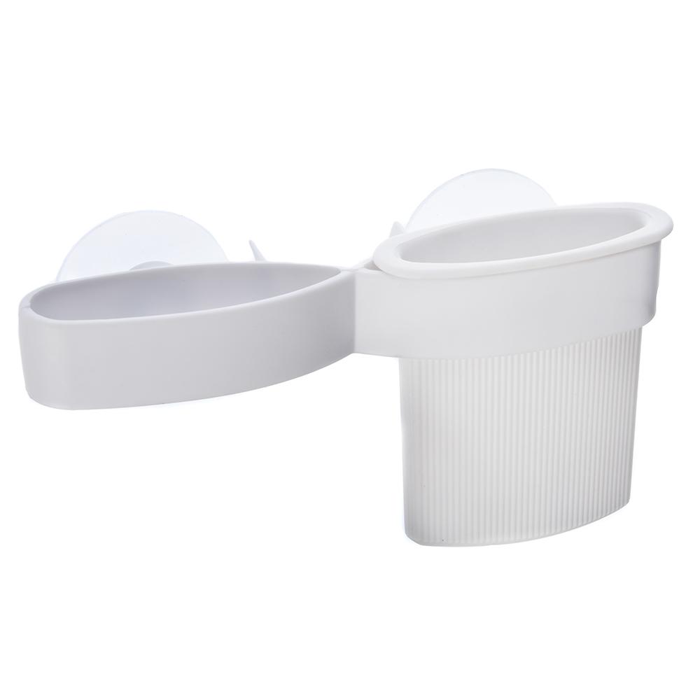 Держатель для зубных щеток и пасты, пластик, 17,5х4,5х9см