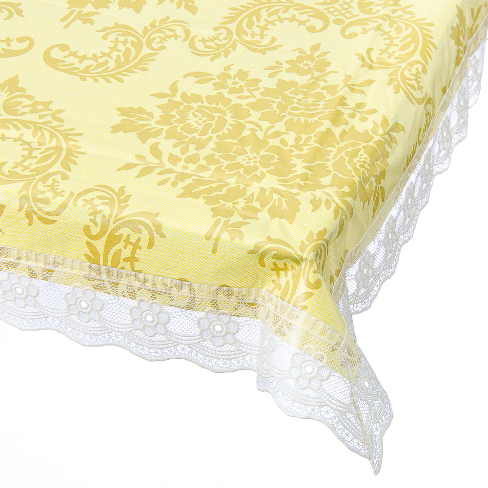 Скатерть на стол виниловая, на фланелевой основе с ажурной каймой, 110x140см, VETTA