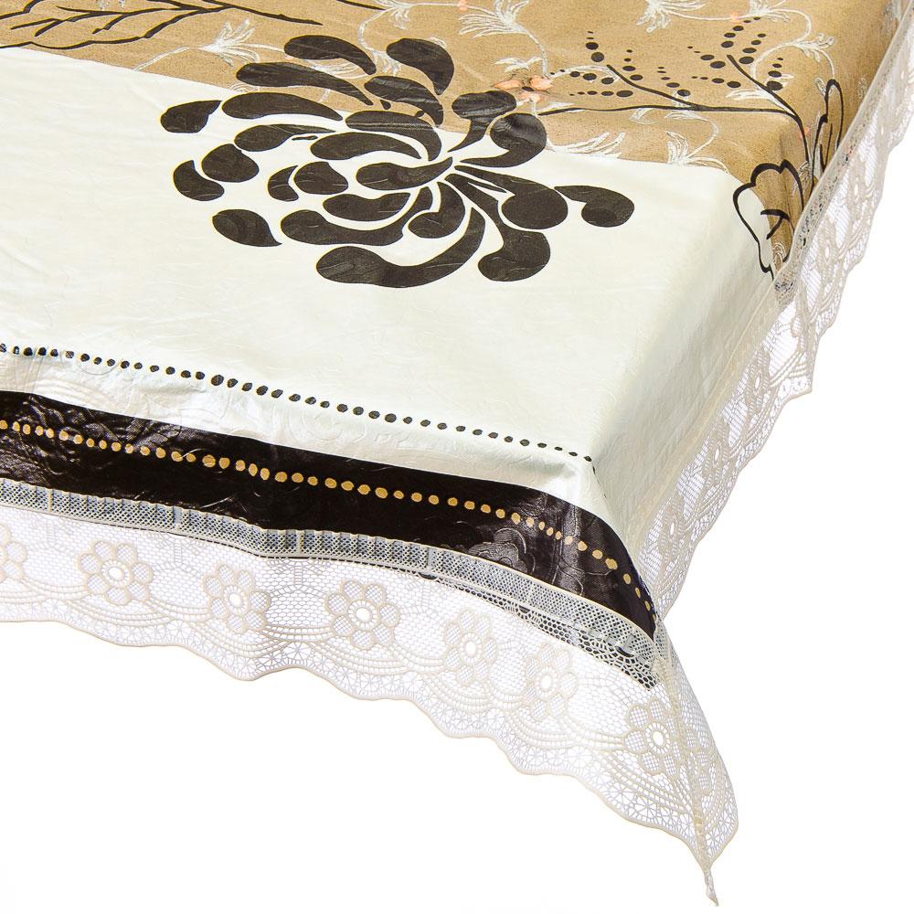VETTA Скатерть виниловая на фланелевой основе с ажурной каймой, 137x137см, KT054