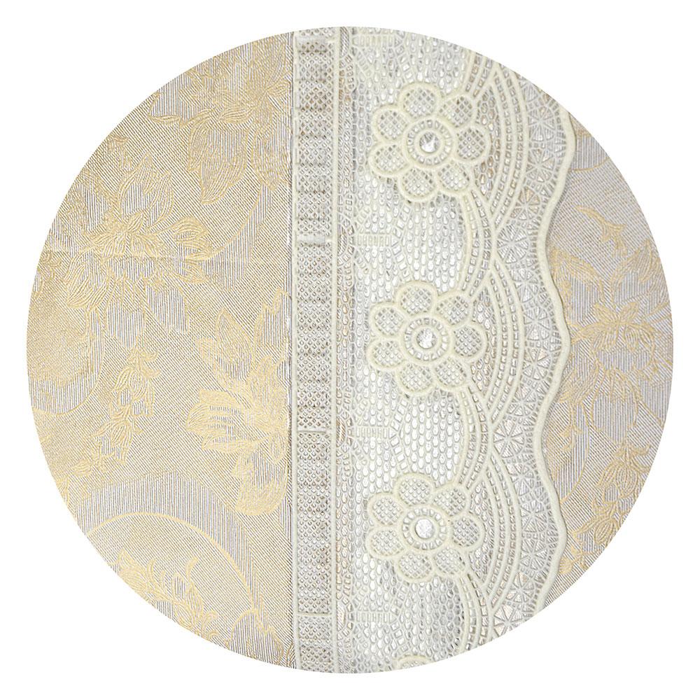 VETTA Скатерть виниловая на фланелевой основе с ажурной каймой, 137x137см, STL004