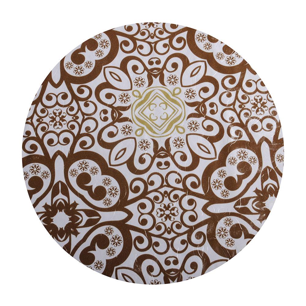 Скатерть на стол виниловая, клеенка с ажурной каймой, 137x182см, VETTA