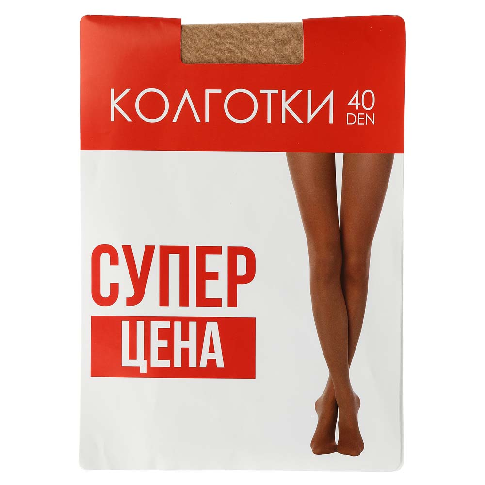 Колготки капроновые женские 40 DEN, 96% полиамид, 4% эластан, 1/2, 3, 4, 3 цвета, GC Design
