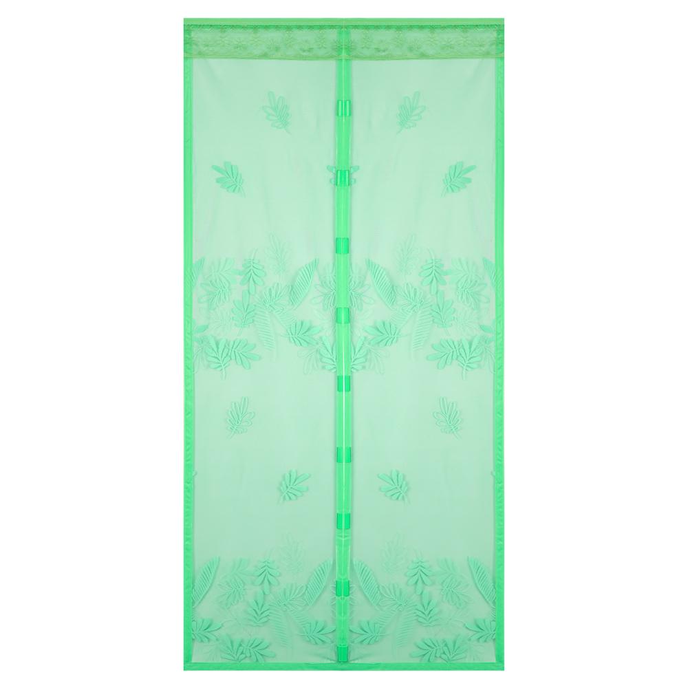 """VETTA Занавеска магнитная антимоскитная на дверь 100x210см, зелёная """"Листопад"""" в коробке"""