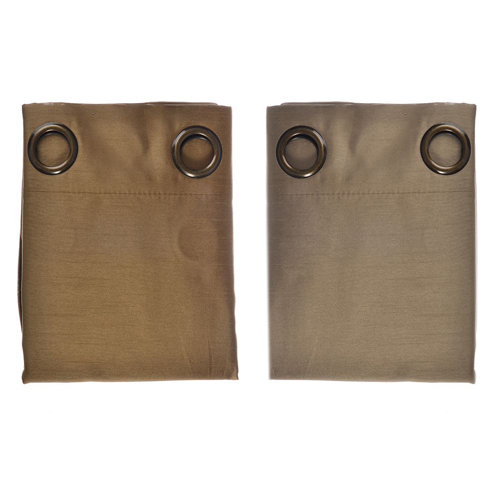 Комплект штор 2 шт., на 8 люверсах, искусственный шелк, 1,4x2,6м, 2 цвета