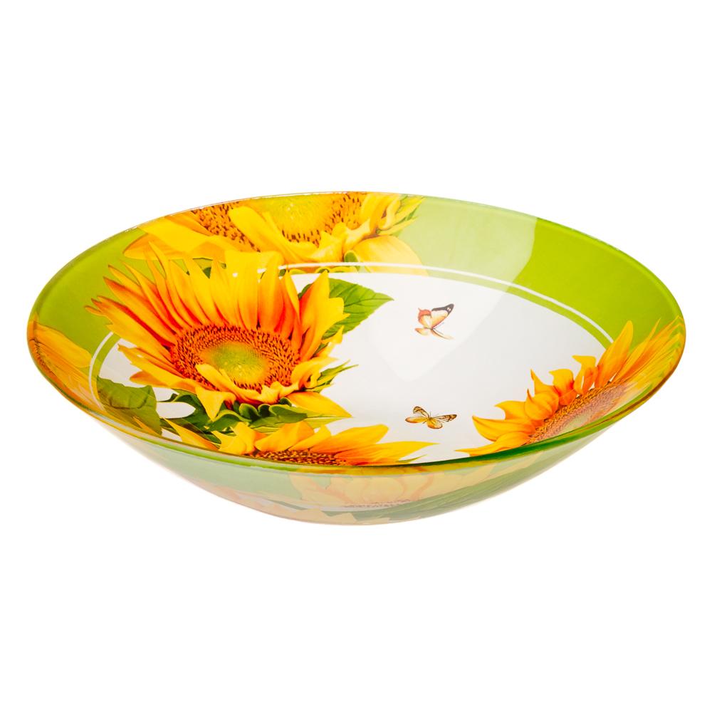 VETTA Солнечный цветок Салатник стекло 228мм