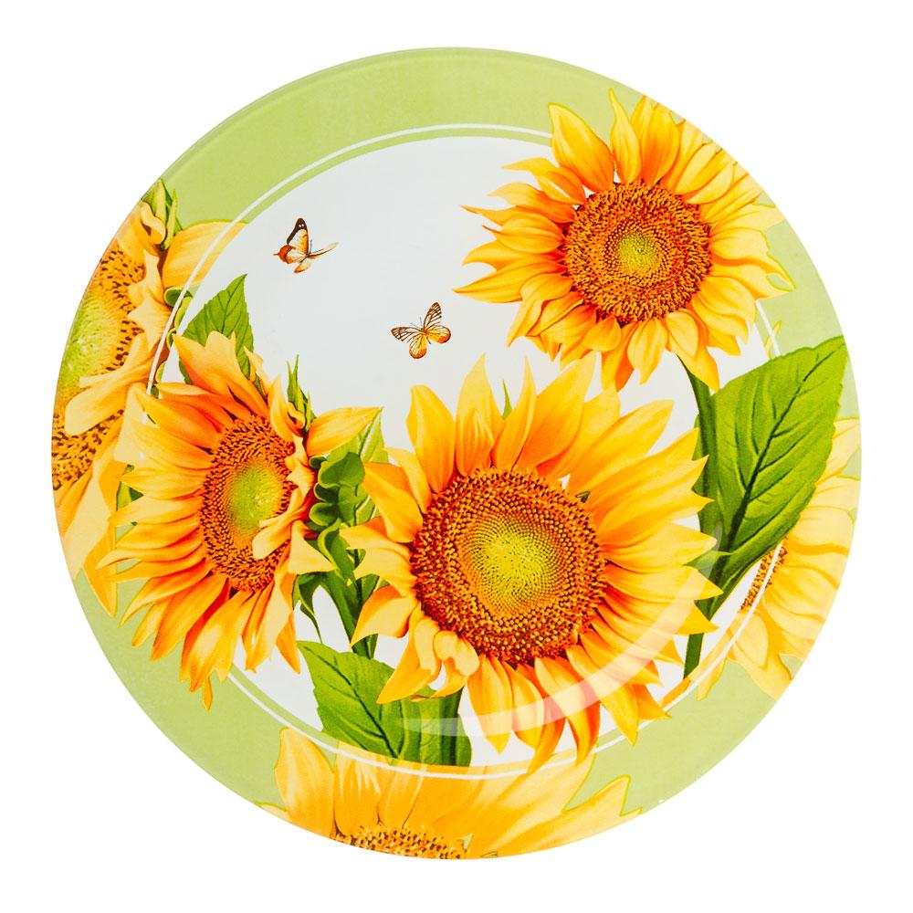 VETTA Солнечный цветок Тарелка подстановочная стекло 254мм