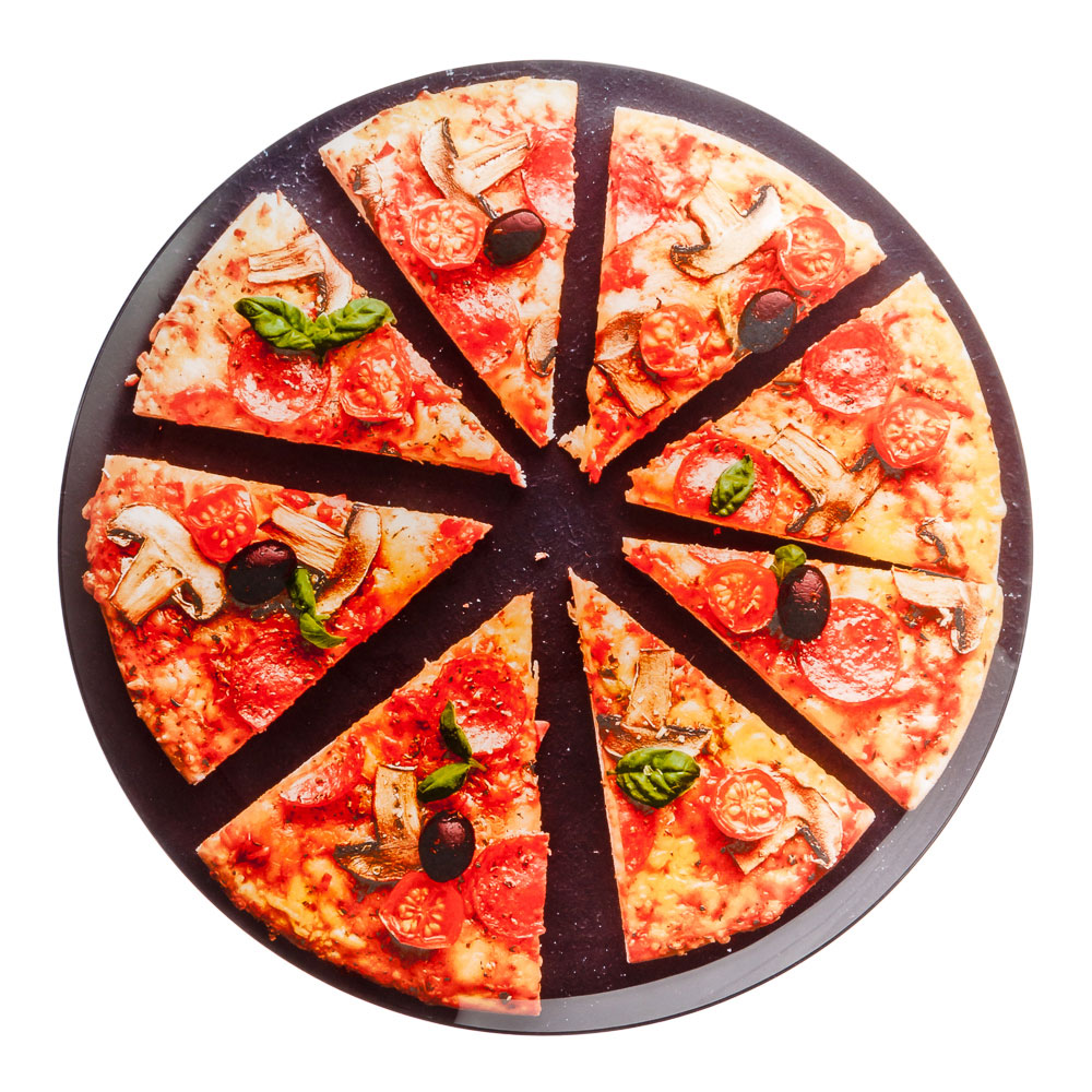 """Блюдо стеклянное 35 см, """"Пицца"""""""