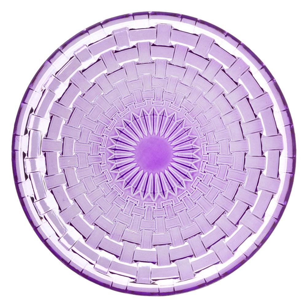 Каприз Тарелка десертная, 20см, стекло, фиолетовый