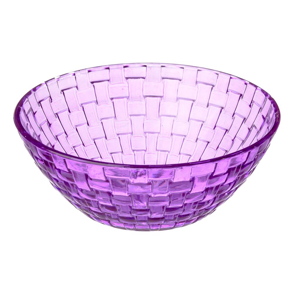 Каприз Салатник, 450 мл стекло, фиолетовый